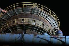 Blast furnaces at night Royalty Free Stock Photo