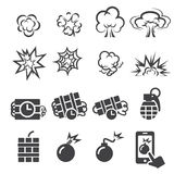 Blast icon set Royalty Free Stock Photography