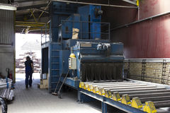 Blast machine in a factory Stock Photography