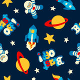 Blast off seamless pattern Stock Photo