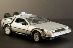 Blast from the past. Picture of a miniature replica of a toy car Royalty Free Stock Photos
