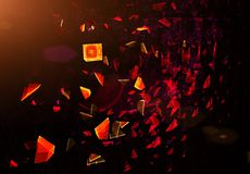 Blast scattered particles Royalty Free Stock Photos