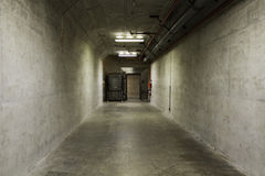 Blast tunnel in a bomb shelter Stock Photography