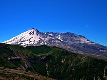 Blasted Mountain. Close up of the volcano - Mt. St. Helens National Volcanic Monument, WA royalty free stock photos