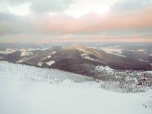 Blasten av berg Carpathians Royaltyfri Fotografi