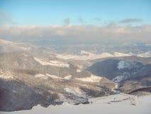 Blasten av berg Carpathians Royaltyfria Foton