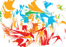 Blasting design. A colorful design of color blast, illustration Stock Photo