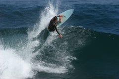 Blasting the Lip. Surfer blasting the lip Stock Photos
