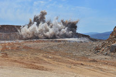 Blasting stone area Royalty Free Stock Photos