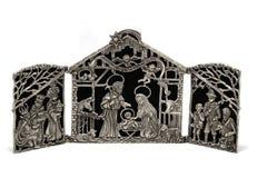 Blaszana narodzenie jezusa scena Obrazy Royalty Free