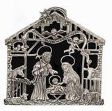 Blaszana narodzenie jezusa scena Obraz Royalty Free