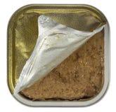 Blaszanej puszki prezerwa otwierająca zdjęcia stock