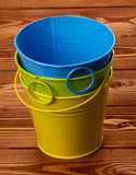Blaszani Colour Wiadra Fotografia Stock