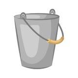 Blaszany pail Wiadro dla ogródu Zdjęcia Royalty Free