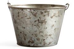 Blaszany pail z ścinek ścieżką Obraz Royalty Free
