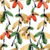 Blaszkowy akwarela wzór Obraz Royalty Free