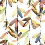 Blaszkowy akwarela wzór Zdjęcie Royalty Free
