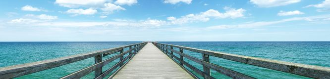 Baltic Sea - Footbridge Panorama royalty free stock photos
