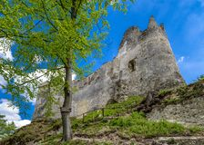 Blatnica castle, Slovakia. BLATNICA, SLOVAKIA - MAY 8: Blatnica castle in Gaderska valley in Slovakia on May 8, 2019 in Blatnica stock photo
