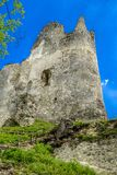 Blatnica castle, Slovakia. Tower of Blatnica castle, Slovakia royalty free stock photography