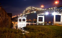 The Blatnik Bridge (night) Royalty Free Stock Image