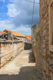 Blato old town street. Blato in Korcula island, Croatia old town street without people and cars Royalty Free Stock Image