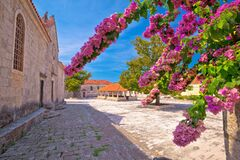 Free Blato On Korcula Island Historic Stone Square Town Lodge And Church View Stock Image - 172463131
