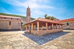 Free Blato On Korcula Island Historic Stone Square Town Lodge And Church View Royalty Free Stock Photography - 172463587