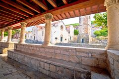 Free Blato On Korcula Island Historic Stone Square Town Lodge And Church View Royalty Free Stock Photography - 172463777