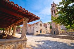 Free Blato On Korcula Island Historic Stone Square Town Lodge And Church View Stock Photo - 172463840