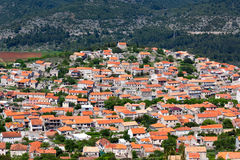 Blato village - Korcula island Royalty Free Stock Photos