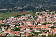 Blato village - Korcula island Stock Photo