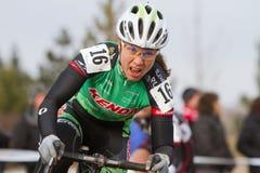 blatt cyclocross赞成竟赛者丽贝卡妇女 免版税库存照片