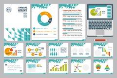 Blatt der Jahresberichtabdeckung A4 und Darstellungsschablone Lizenzfreie Stockbilder