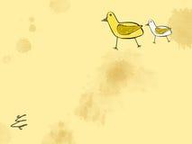 Blatt der Kindzeichnung Stockbild