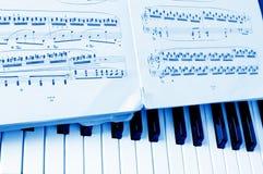 Blatt der musikalischen Anmerkungen der Nahaufnahme Stockbilder