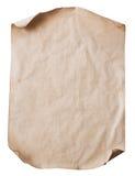Blatt des alten Papiers Stockbild
