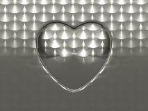 Blatt des aufgetragenen Metalls mit Kreisform Stockfoto