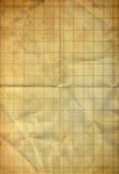 Blatt des Diagramms auf altem faltendem grunge Papier Stockfoto