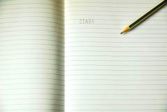 Blatt des gezeichneten Briefpapiers Stockbild