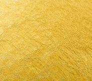 Blatt des Goldfolien-Blatthintergrundes Lizenzfreie Stockfotos
