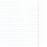 Blatt des Notizbuchpapiers mit Linien lizenzfreie abbildung