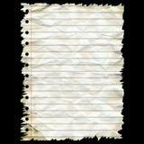 Blatt des zerknitterten Papiers Stockbild