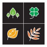 Blatt, Ikone, Linie, Anlage, Entwurf, Satz, Natur, Baum, Ikonen, Design, Symbol, Zeichen, Logo, Wachstum, Illustration, Blume, or Stockfotos