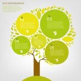 Blatt infographic Lizenzfreie Stockbilder