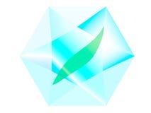 Blatt innerhalb eines Diamanten Stockfotos