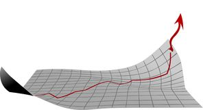 Blatt mit Wachstumsdiagramm