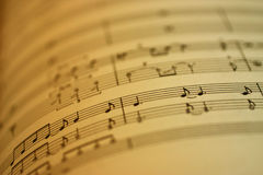 Blatt-Musik Lizenzfreies Stockfoto