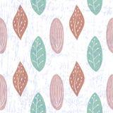 Blatt-nahtloses Muster Stockbild