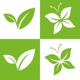 Blatt-Paar-Ikonen-Vektor-Illustrationen Lizenzfreie Stockfotos